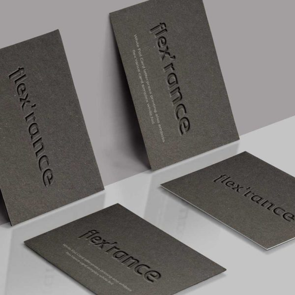 Duplex grey paper for a memorable business card.