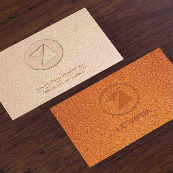 Orange matte paper for great business cards.