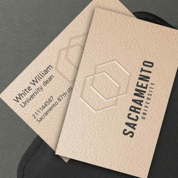 Beige paper business card. Elegant and simple.