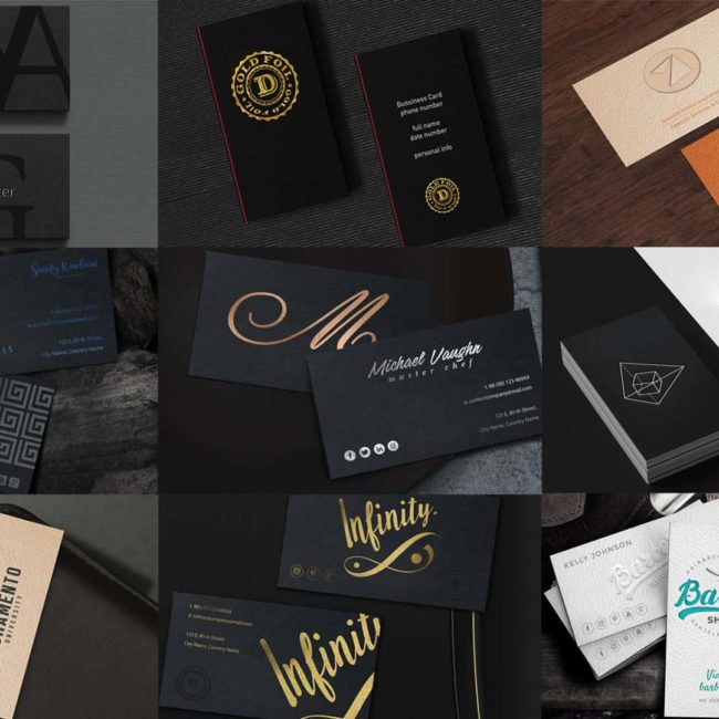 Sample pack with all of our business cards.